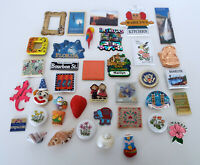 Vintage Magnet Collection 37 Piece Estate Lot Mid Century Modern Travel Souvenir