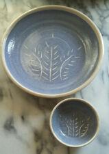 Set 2 Handmade Blue Rustic Glazed Ceramic 12
