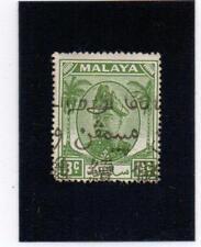Malaya / Malaysia - Selangor 1952  8c green stamp with unusual cancel ( SG97 )