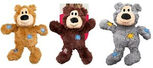 KONG Wild Knots Bear Dog Toy Squeaky Shake Fetch Chase Play Cuddle S/M M/L or XL