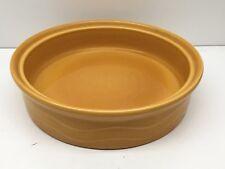 """Lot of (3) Syracuse China Decorative Orange Cylindrical 8"""" Dish, 2"""" Deep"""