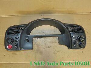 00-03 Honda S2000 AP1 Gauge Cluster Bezel Trim Dash Climate Control Start Button