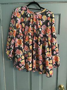 Topshop Floral Polka Dot Maternity blouses size 12