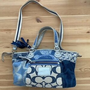 COACH Authentic Signature C Blue Bag Purse