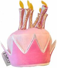 Pink Birthday Cake & Candles Hat Party Girl Fancy Dress