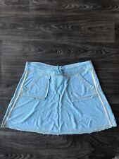 New Da Nang Women's Silk Sporty Casual Skirt Turquoise Blue Size Small