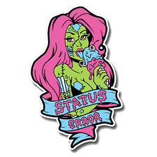 Status Error Ice Cream Zombie Sexy Tattoo Girl Sticker - Drift / Skate / BMX JDM
