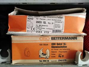 1 Paar Quick Schellen OBO Bettermann 2955GL PG21 Klemmschellen Panzerrohr 28 mm
