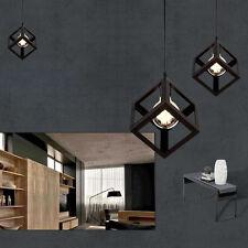 Hanging Pendant Ceiling Edison Light Modern Vintage Metal Lamp Bulb Cage Black