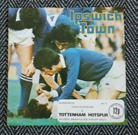 Ipswich Town v Tottenham 1976 Programme 31/1/76! FREE UK POSTAGE! LAST ONE!!!