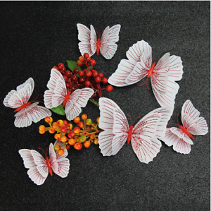 double-layer 3D Butterfly Wall Sticker for wedding decoration room Butterflies