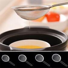 Snack Fryer Colador Wire Fine Mesh Oil Colador tamiz de harina Sifter Sieve EW