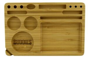 Buddies Bamboo Wooden Rolling Tray 23cm × 15.5cm Cigarette Accessories