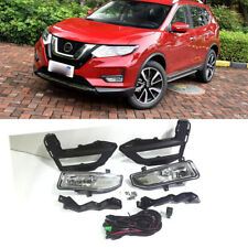 2* Halogen Front Fog Light w/Switch/Wiring/Bezel Kit For 2017-2020 Nissan Rogue