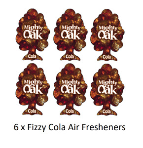 6 x Mighty Oak Hanging 2D Car Home Office Air Freshener Freshner - Fizzy Cola