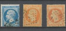 Classique N°22 20c  bleu , N°23, N°31 40c orange Oblitérés ANCRE TB. P5096