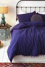 Urban Outfitters Magical Thinking Pom Fringe Purple Duvet twin XL 66 x 90 NEW