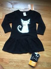 Gymboree Baby Girl 12-18 Sweater Dress & Matching Tights Cat Theme NWT