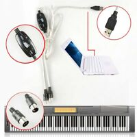 USB to 5-pin MIDI Interface Cord Converter PC Music Keyboard Instrument Adapter