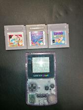 Nintendo Gameboy Color Transparent Lila + Spiele