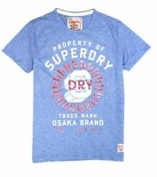 Superdry Mens T-Shirt Blue Size Large L Property Of Osaka Brand Tee $38 #010