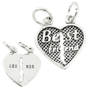 DAILY DEALS Heart Charm Solid 925 Sterling Silver Children Pendant C21252