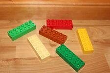 Lego Duplo - 6 EXTRA lange Bausteine, 2x6 Noppen, 12er Baustein gemischt 2300