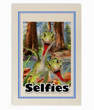 "H Robinson dino ""selfie"" Raptors portrait 100% natural cotton t towel - 67x47cm"