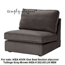 IKEA KIVIK Slipcover for One Seat Section Chair Tullinge Gray Brown 202.003.24
