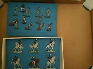 Napoleonic war various 30mm tin pewter flat figures