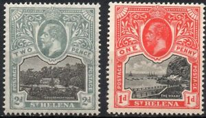ST. HELENA/1912/MH/SC#62, 64/GOVERMENT HOUSE / THE WARF /KING EDWARD VII /ROYATY