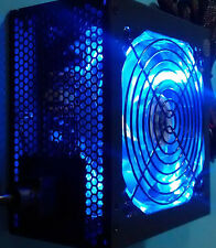 NEW 850W 80+ Blue LED Fan 2x PCIe Gaming PC ATX 12V 6-SATA Black Upgrade PSU