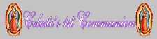 4ft Personalized Name Guadalupe Virgin First Communion Banner