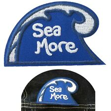 Sea more iron on patch surf wave sea sport see more ocean water iron-on patches
