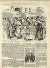 1891 Working Women's Dress In Paris Lady Sleeping Factory Trafalgar Day Survivor