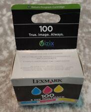 Lexmark 100 Cartridges Set NEW IN SEALED BOX 3 Ink Multipack Cyan Magenta Yellow