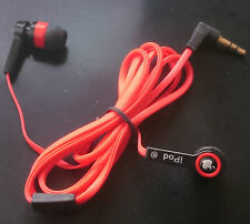 In-Ear Stereo Headphone Red & Black / Rouge & Noir Ecouteurs for mp3 mp4 tablet