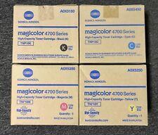4x Original Toner Konica Minolta Magicolor 4750 Dn en / A0X5150 A0X5250 -A0X5450