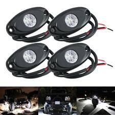 4pcs White CREE LED Rock Light Offroad Truck Boat ATV UTV Under Body Trail Lamp