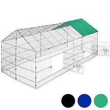 Rabbit enclosure run cage pet hutch outdoor playpen metal secure sunshade