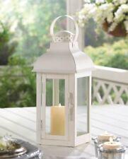 "10 Soft White Medium Gable Candle Lanterns w/ Doom Roof 12.75"" High"
