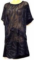 TS top TAKING SHAPE plus sz XS / 14 Out Of The Shadows Tunic sheer NWT rrp$120