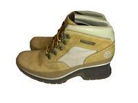 Timberland Wheat Tan Leather Nubuck Ankle Boots Womens 7M 193400878. EUC