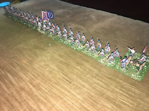 48 Painted  - 1/72 Confederate South Carolina Infantry w Artillery & Command !