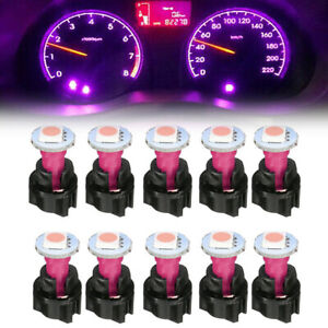 10X PC74 T5 Instrument Cluster Gauge Panel Dash 5050 LED Light Lamp Twist Socket