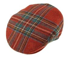 Mens Scottish Royal Stewart Tartan Golf Polo Hat Cap Wool