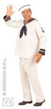 """Mens White Sailor Sea Captain Naval Uniform Fancy Dress Costume Size XL Upto 48"""""""