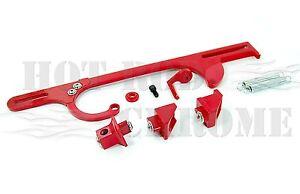 Billet Throttle Cable Bracket Holley 4150 4160 Dominator Carburetor Red