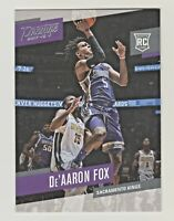 2017-18 Panini Prestige De'AARON FOX RC Rookie Sacramento Kings QTY AVAILABLE
