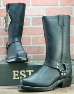Chippewa Motorcycle Leather Harness Boots #27868 Vibram Soles US 7 EE Black